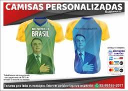 Camisas Bolsonaro - Meu Partido é o Brasil