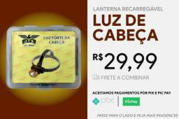 Título do anúncio: Lanterna Led Para Cabeça Recarregável Com Bateria 18650