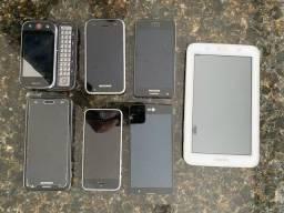 Kit aparelhos celular e mini tablet