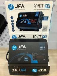 fonte e carregador JFA 120A nova últimas 2 peças garantia 1 ano