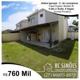 Casa Duplex 4 Qts c/ Suite e Closet - Aldeia Igarapé - Colina de Laranjeiras