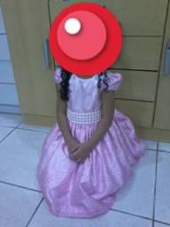 Vestido de festa 4 a 6 anos