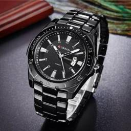 Relógio Curren 8110 Aço Preto Masculino Quarzto Luxo - Entrega Grátis