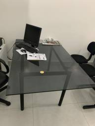 Mesa de escritório vidro