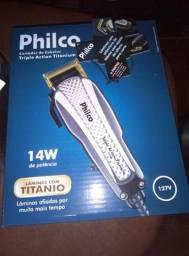Máquina de cortar cabelos Philco-Titânio completa + Kit de acessórios, tudo novo!