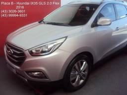Hyundai IX35 GLS 2.0 Flex (Aut.) (Couro) - 10 AirBags - Top de Linha - Placa B - 2016