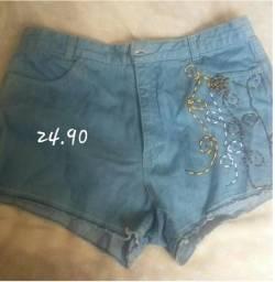 Short -saia e blusa