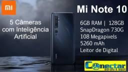 Celular Smartphone Xiaomi Mi Note 10 128Gb 6GB Ram 108 Mpx 5 Câmeras Tela Amoled Global