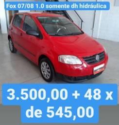 Fox 07/08 1.0 3.500,00 mais 48x de 545,00 possui somente dh hidráulica
