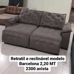 Sofá retrátil e reclinável modelo Barcelona