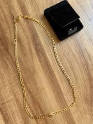 Vendo cordão banhado a ouro/novo nunca usado