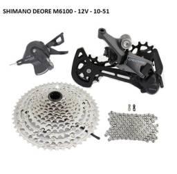 Grupo Shimano Deore M6100 12 velocidades