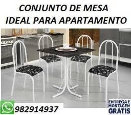 Super Oferta de Lindo Conjunto de Mesa 4 cadeiras Perfeita Para Apartamento (Nova)