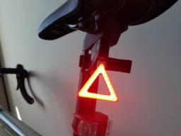 Luz led bicicleta alerta