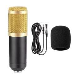Microfone Condensado profissional para Studio e notebook
