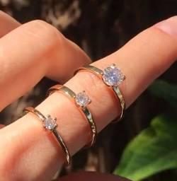 Título do anúncio: Anéis Solitário