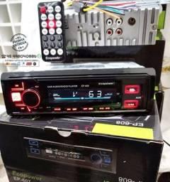 Título do anúncio: Radio bluetooth (Ligaçoes/Musica)-usb- Aux-Cart de Memoria-4 Saida RCA  Novo