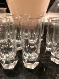 12 Taças de shot de cristal hering