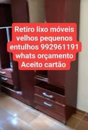 Guarda Roupa velho descarte de móveis velhos e lixos