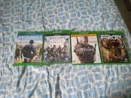 Xbox one S - 1 controle - 4 jogos