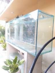 aquario todo em vidro
