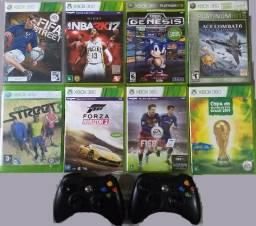 Jogos e controles originais xbox360 aceito cartao
