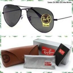 Óculos Ray-Ban Aviador 3025 (Lente preta/Armação preta)
