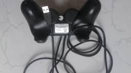 Controle com cabo usb para PC e ps3
