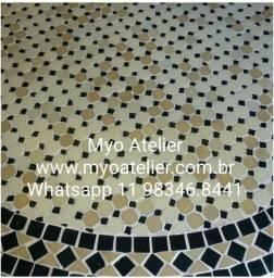 Tampo de mesa marroquino mosaico