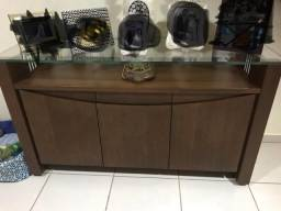 Buffet sala de jantar com tampo de vidro