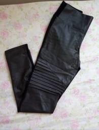 Calça legging de courino