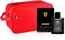 Kit Perfume Black Scuderia Ferrari Masculino Eau de Toilette 40ml + Necessaire