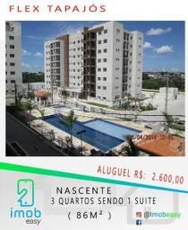 Aluga-se Flex Tapajós 3 quartos sendo 1 suite; Nascente; com 2 vagas de garagem subsolo