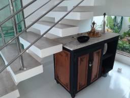Armário de madeira tampão de mármore/Ji Paraná