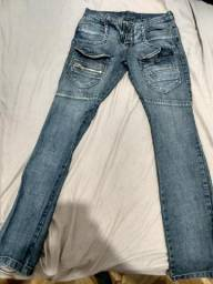 Calça jeans masculina Guitta Rio (tamanho 38)