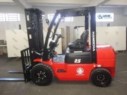 Empilhadeira Diesel Hangcha| 2,5 toneladas| Torre triplex| Pouso Alegre-MG