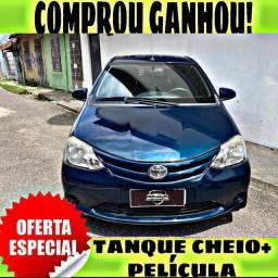 TANQUE CHEIO SO NA EMPORIUM CAR!!! TOYOTA ETIOS 1.3 ANO 2015 COM MIL DE ENTRADA