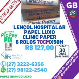 Título do anúncio: Lençol Hospitalar LUX0 ClinicPaper 6 Rolos 70cmx50m Entrega Grátis NF