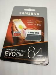 Cartão Mini SD 64gb ou 128gb