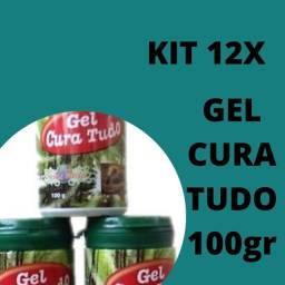 Kit 12 Gel Cura Tudo Gel Massagem Refrescante 100g