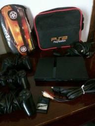 PS2 PlayStation 2 com + de 60 jogos mídia física, 3 controles, Mem. Card.