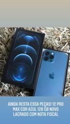 iPhone 12 pro max 128 gb cor azul chegou mais  disponível pronta entregar