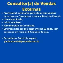 Título do anúncio: Consultor(a) de Vendas Externas Autônomo