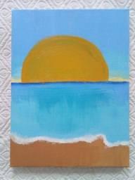 Quadro pintura, Sol Presente
