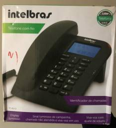 Telefone com fio com identificador de chamadas
