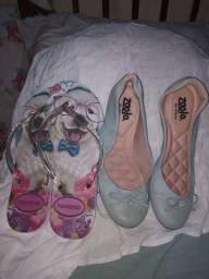 Kit sapatilha + sandalia