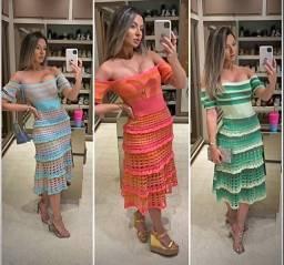 Vestido de Tricot Blogueirinha