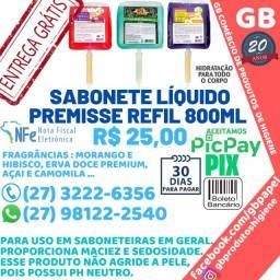 Título do anúncio: Sabonete Líquido Diversas Fragrâncias Refil 800 ml pH Neutro Entrega Grátis Nota Fiscal