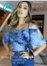 Título do anúncio: Blusa da Hemera modelo Tye Dye azul tamanho 44