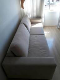 Sofá 2.60 metros Bege impermeabilizado Novo super confortável